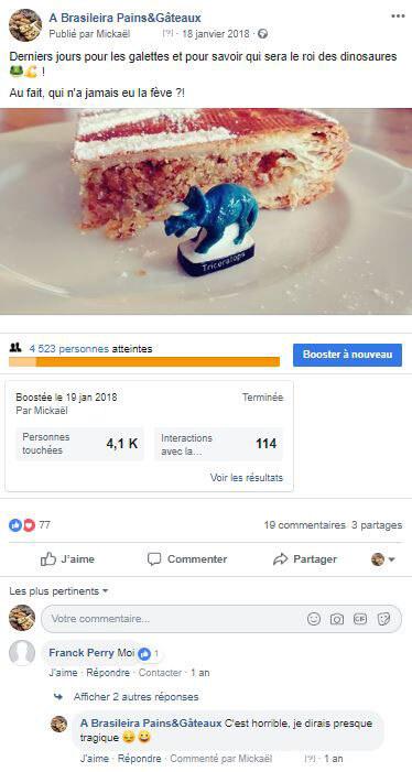 A Brasileira sur les réseaux sociaux