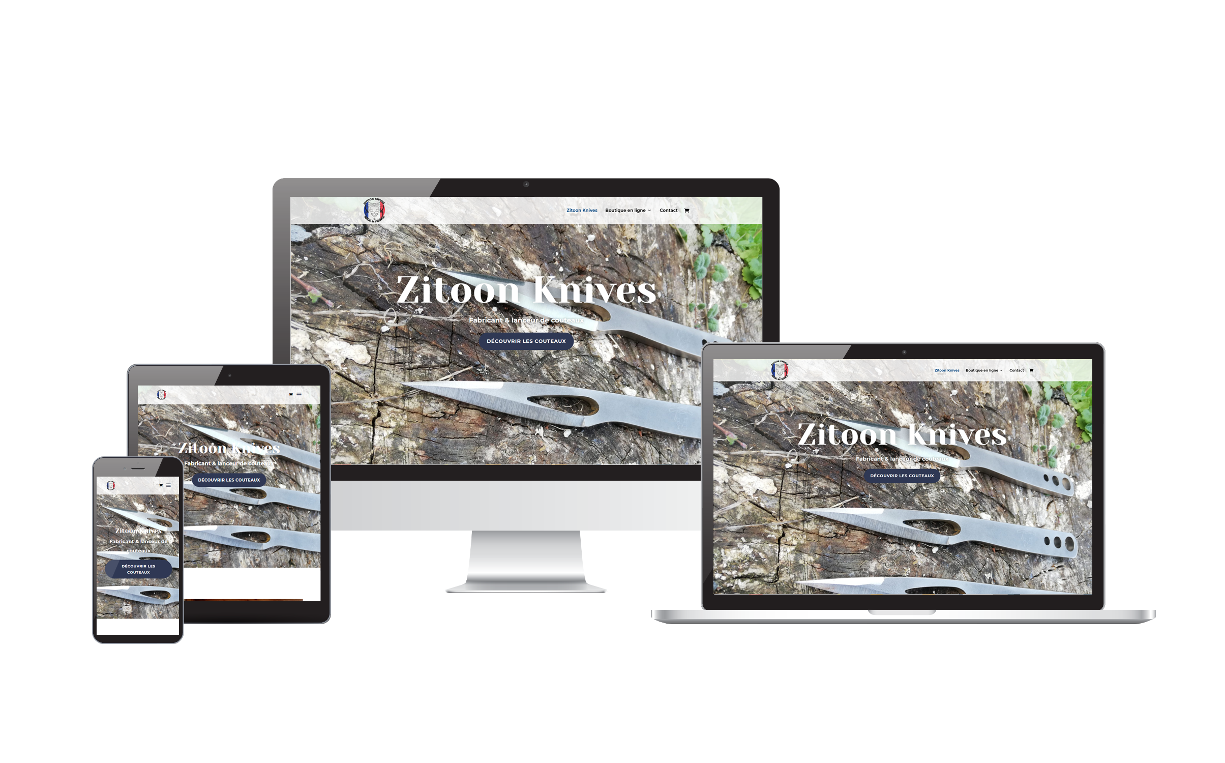 Site ecommerce Zitoon Knives